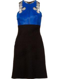 платье с панелью из меха пони David Koma