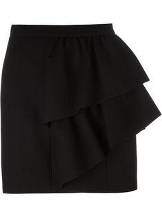 юбка с оборками  Saint Laurent
