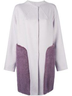 пальто с кашемировыми панелями Liska