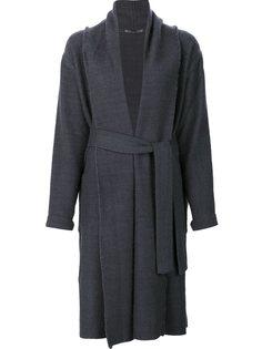 пальто с поясом Denis Colomb
