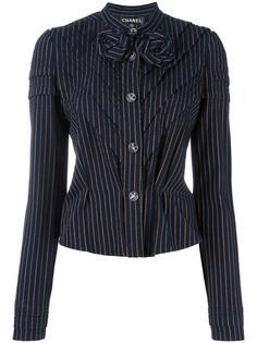 полосатый пиджак Chanel Vintage