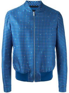 куртка-бомбер с принтом Alexander McQueen