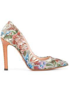 туфли с цветочным рисунком Ermanno Scervino