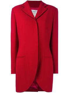 пальто с бархатной отделкой Christian Dior Vintage