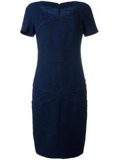 приталенное платье с панельным дизайном Chanel Vintage