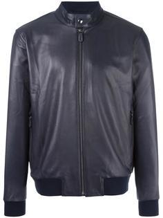 кожаная куртка с узким воротником-стойкой Z Zegna