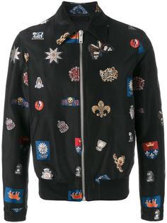 куртка с вышивкой Alexander McQueen