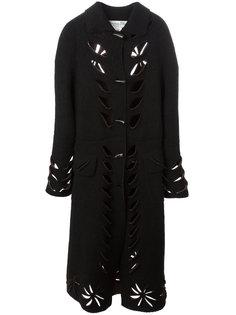 удлиненное пальто с вырезными деталями Christian Dior Vintage