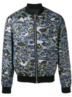 куртка-бомбер с мелким узором Les Hommes