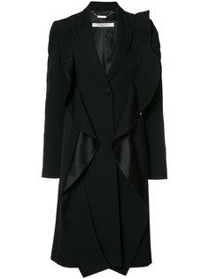 пальто с оборками Givenchy