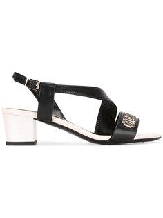 босоножки на наборном каблуке Lanvin