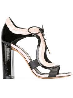 босоножки на шнуровке Salvatore Ferragamo