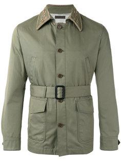 куртка с вышивкой на воротнике Alexander McQueen