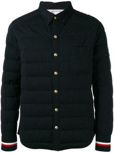 пуховая куртка с контрастными полосками Moncler Gamme Bleu