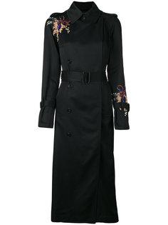 пальто с цветочной вышивкой Victoria Victoria Beckham