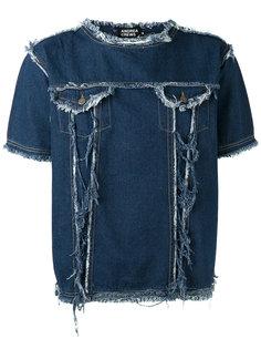 джинсовая футболка с бахромой Andrea Crews