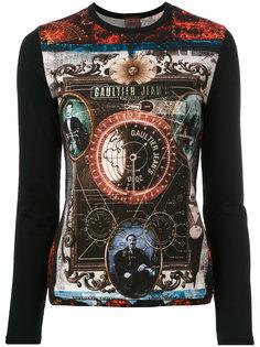 топ с рисунком Jean Paul Gaultier Vintage