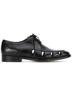 туфли на шнуровке с вырезными деталями Paul Smith