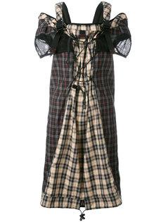 клетчатое платье с ремешками Maison Margiela