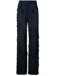брюки-палаццо с бахромой Jason Wu