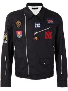 байкерская куртка с вышивкой Alexander McQueen