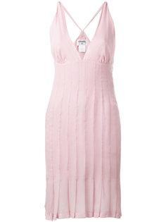 платье с плиссированным подолом Chanel Vintage