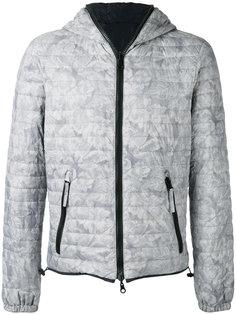 стеганая куртка с цветочным принтом Duvetica