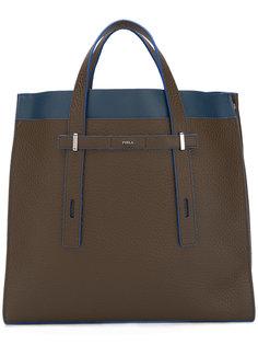 структурированная сумка-тоут с контрастной отделкой  Furla