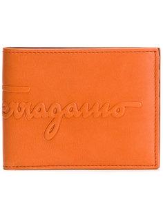 бумажник с тисненым логотипом Salvatore Ferragamo