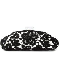 клатч обтянутый цветочным кружевом Chanel Vintage