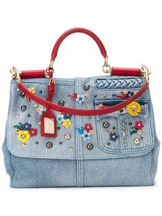 джинсовая сумка с откидным клапаном Dolce & Gabbana