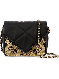 стеганая сумка с декором из бисера Chanel Vintage