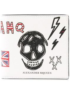 бумажник с рисунком черепа Alexander McQueen