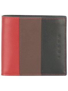 бумажник дизайна колор-блок Marni