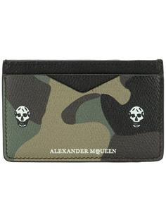 кошелек для карт с камуфляжным рисунком Skull Alexander McQueen