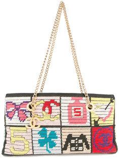 сумка на плечо с брендовыми элементами Chanel Vintage