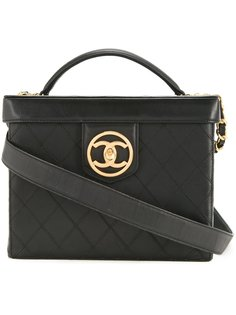 двусторонняя косметичка CC  Chanel Vintage