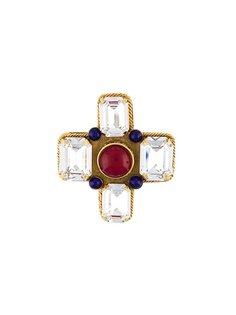 брошь с камнем и кристаллами Chanel Vintage