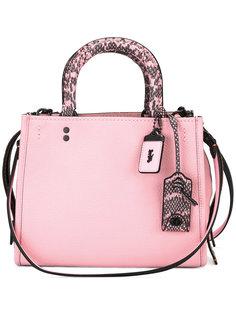 сумка на плечо с контрастной окантовкой Coach