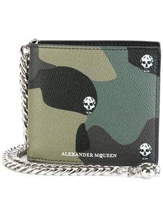 камуфляжный бумажник Alexander McQueen
