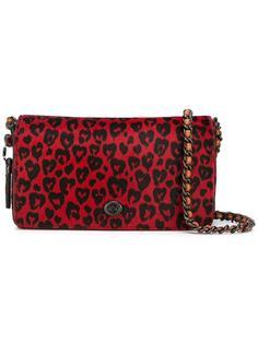 сумка через плечо с леопардовым принтом   Coach