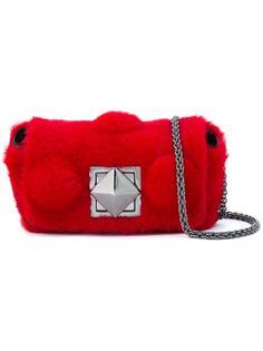 мини сумка через плечо из овчины Sonia Rykiel