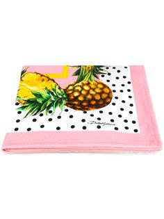 пляжное полотенце с ананасами Dolce & Gabbana
