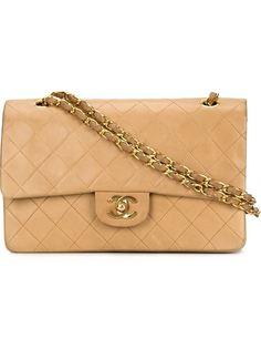 средняя сумка на плечо с двойным клапаном Chanel Vintage