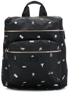 рюкзак с мелким принтом Paul Smith