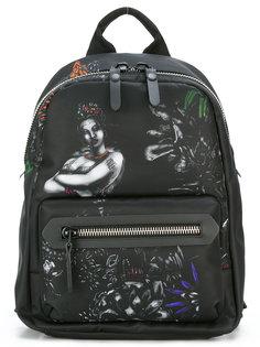 рюкзак с принтом женской фигуры Lanvin