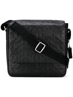 сумка через плечо с тиснеными логотипами Coach