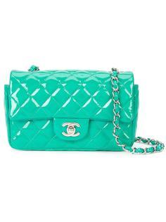 миниатюрная прямоугольная сумка-конверт Chanel Vintage