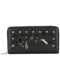 удлиненный кошелек со значками и заклепками Dolce & Gabbana