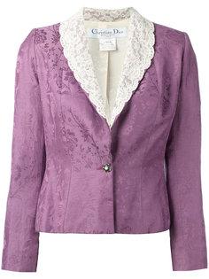 укороченный пиджак с кружевными лацканами Christian Dior Vintage